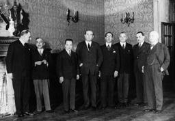 Engelbert Dollfuss and Gyula Gombos, Rome, 1934