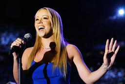 MARIAH CAREY SINGS NATIONAL ANTHEM FOR SUPERBOWL XXXVI