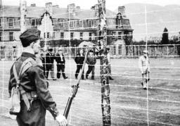 German prisoners of war in a British camp, 1939