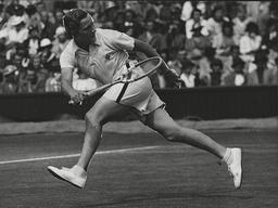 Miss Helen Jacobs Tennis Player In Action At Wimbledon Tennis Championships. Box 0602 02072015 00129a.jpg.