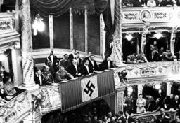 Hitler, Buerckel, Goebbels, Seyß-Inquart, Bormann in the Opera in Vienna