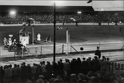 A Fireworks Display At West Ham Stadium When Hackney Wick And West Ham Met In The Daily Mail National Speedway Trophy Competition. West Ham Won By 58 Points To 46 To Gain A Small Lead For The Return Contest.