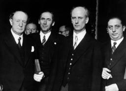 Paul Graener, Carl Vincent Krogmann, Wilhelm Furtwangler and Heinrich Strohm, 1937
