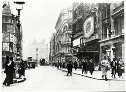 View Of Coventry Street London W1. The Photograph Was Taken In 1937 It Shows The Cafe De Paris On The Right.