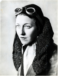 Amy Johnson (1903 - 1941) Pioneer Aviator Who Drowned After Bailing Out Over The Thames Estuary.