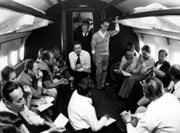 Helmut Schmidt with journalists