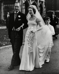 The Wedding Of Hon William Gladstone Bethell (dead October 1974) And Ann Barlow At St Margaret's In Westminster