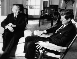 German Chancellor Adenauer visits US President Kennedy