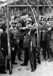 Hermann Goring while archery, 1939