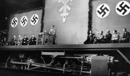 Adolf Hitler at the Krupp factory in Essen, 1936