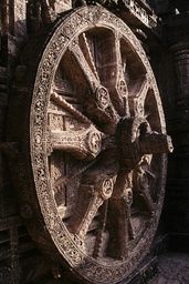 Konarak, Sonnentempel, Rad / Foto - Konarak, sun temple, wheel / Photo - Konarak, temple du Soleil, roue / Relief