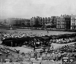 The Band Playing On Bandstand At Eastbourne Sussex
