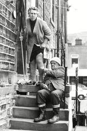 Tv Programme: Last Of The Summer Wine. Nora Batty (kathy Staff) And Compo (bill Owen). Box 650 504121549 A.jpg.