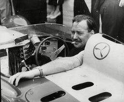 Racing Driver Archie Scott-brown In His Lister-jaguar At The Grand Prix Of Europe At Aintree. Box 731 520021710 A.jpg.