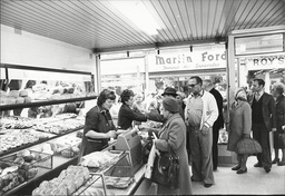 People Buying Up Bread On The Eve Of The Bakers Strike In 1978 A Scene Inside The Michael Over Bakery On Rye Lane In Peckham
