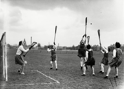 England V Scotland International Lacrosse At Goldenacre Edinburgh 1948.