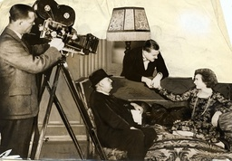 Edgar Wallace Author And Film Director Seated Directing Nigel Bruce.