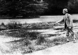 Arthur Neville Chamberlain while fishing, 1938