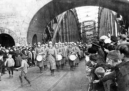 GERMAN TROOPS MARCH, 1936.