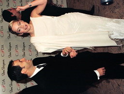 KENNETH COLE AND SHARON STONE ATTEND FASHION AWARDS IN NEW YORK