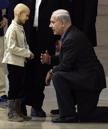 Israel's Prime Minister Netanyahu meets Inbar before attending a Likud party meeting at the Knesset in Jerusalem