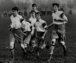 Viscount Lascelles (right) Playing In The Final Of Lower Boy Football Cup At Eton.