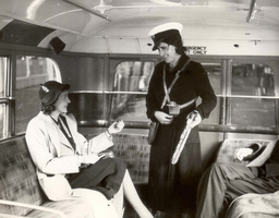 Woman Bus Conducter At Swanley Kent During Wwii.