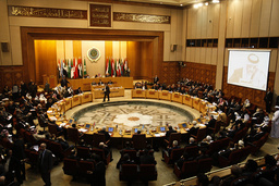 General view of the Arab foreign ministers meeting at the Arab League headquarters in Cairo