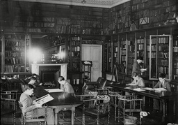 Pupils In The Library At Stowe School Buckingham - 1930's