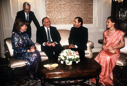 German Chancellor Kohl in India 1986