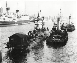 Hms Dreadnought British Royal Navy Nuclear Powered Submarine. At Barrow In Furness The Seventh Hms Dreadnought Was The United Kingdom's First Nuclear-powered Submarine Built By Vickers Armstrongs At Barrow-in-furness. Launched By Queen Elizabeth Ii