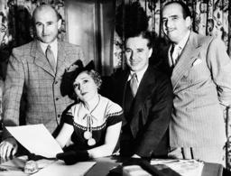 Samuel Goldwyn, Mary Pickford, Charles Chaplin and Douglas Fairbanks, 1935