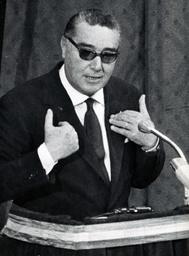 Italian Politician Arturo Michelini