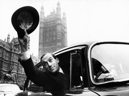 Jeremy Thorpe leaving the House of Commons after his election