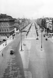 The empty Unter den Linden Street in Berlin after the war began, 1939
