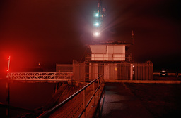 Newhaven harbour at night