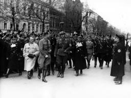 Josef Buerckel, Rudolf Hess and Reinhard Heydrich, 1938