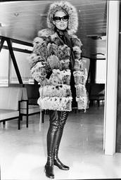 Actress Faye Dunaway At London Airport.
