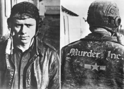 Captive American bomber pilot, 1943