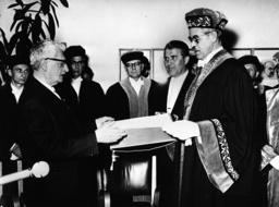 H.Oberth,Ehrendoktor TU Berlin/1963 - H.Oberth / Honorary Doctorate / TU Berlin / 1963 -