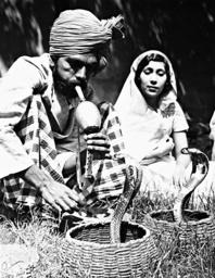 Indian snake charmer, 1938