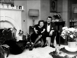 Actor Jack Hawkins At Home With His Wife Doreen Hawkins 1966.