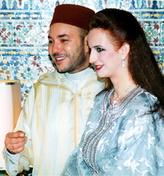 MOROCCO'S KING MOHAMMED AND FUTURE BRIDE SALMA BENNANI