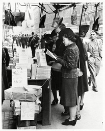 Copies Of The Blue Book Giving Diplomatic Correspondence And Conversatins Before The War On Sale (with Gas Masks) At A London Bookstall. The Demand For Copies Is Huge And If You Are Looking For One The Cover Is-white.