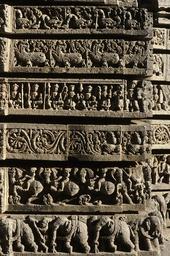 Somnathpur, Keshava-Tempel, Teilansicht / Foto - Somnathpur, Keshava Temple, Partial View / Photo -