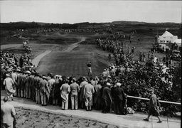 Ryder Cup Action At Southport And Ainsdale Golf Course In 1937 Golfer Henry Cotton Driving Off 1st Tee Southport And Ainsdale Golf Club Is Situated Near The Merseyside (formerly Lancashire) Towns Of Southport And Ainsdale On The North West Coast Of E