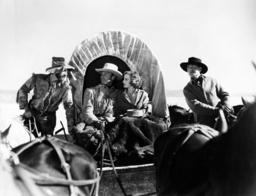 THE THUNDERING HERD, from left: Raymond Hatton, Randolph Scott, Judith Allen, Harry Carey, 1933