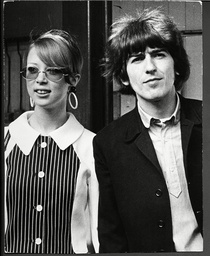 George Harrison And His New Wife Model Pattie Boyd (divorced 1975) Fly Out To The West Indies Two Weeks After Their Marriage. 1966