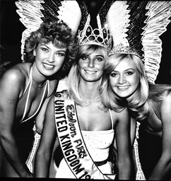 The Miss United Kingdom 1982 Line-up. From L To R Alison Smyth Della Dolan And Anne Jackson.