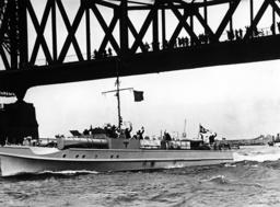 The E-boat S 13 on the Rhine